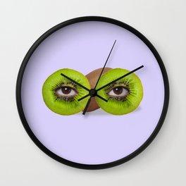 Psychedelic kiwi Wall Clock