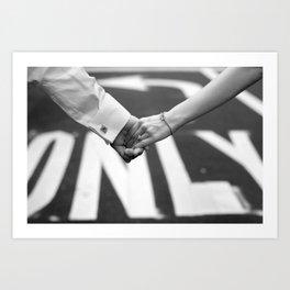 Hand In Hand | Love | Engagement Art Print