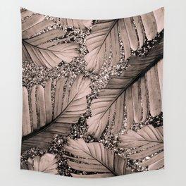 Banana Leaves Glitter Glam #3 #shiny #tropical #decor #art #society6 Wall Tapestry