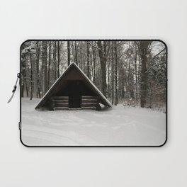 Log Hut In The Snow Laptop Sleeve