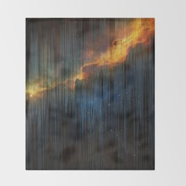 Planet Pixel Fall Down Throw Blanket