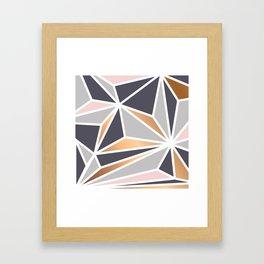 Geometry Gold 047 Framed Art Print