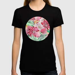 Blossoming - a hand drawn floral pattern T-shirt