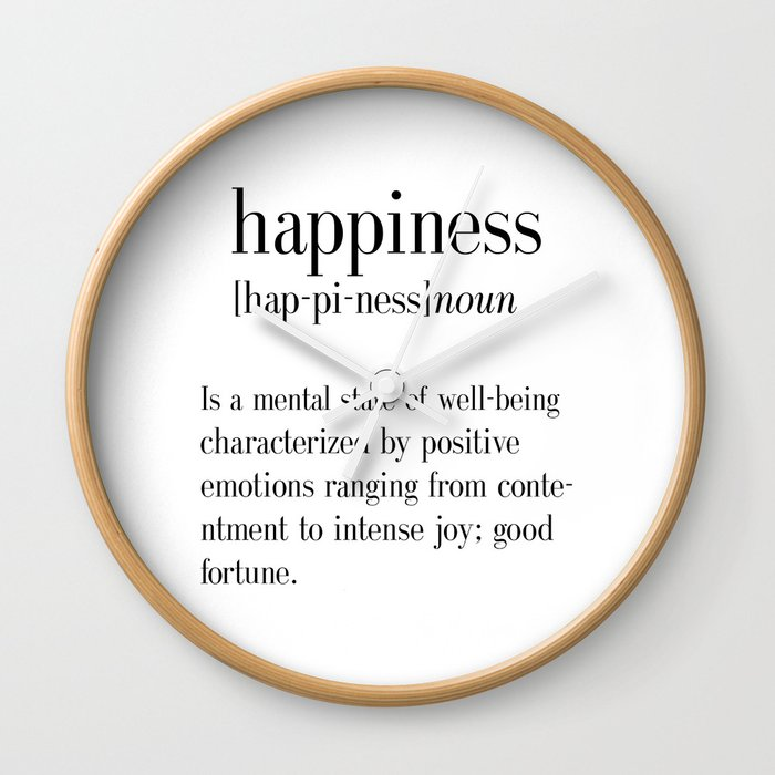 Happiness Definition, Adult, College Dorm Room Decor, Dorm Wall Art,  Dictionary Art