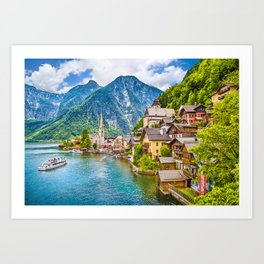 Picture Perfect Hallstatt Art Print