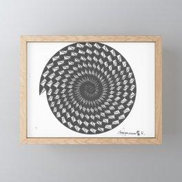 spiral 6 Framed Mini Art Print