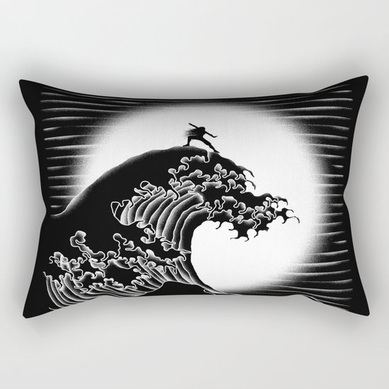 Waterbending (Black) Rectangular Pillow