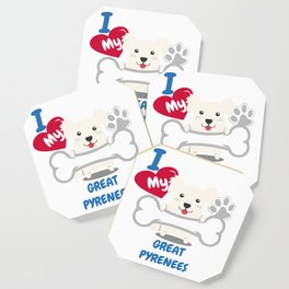 GREAT PYRENEES Cute Dog Gift Idea Funny Dogs Coaster