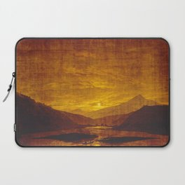 Caspar David Friedrich / Mountainous River Landscape Laptop Sleeve