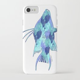 Blue Camouflage Hogfish iPhone Case