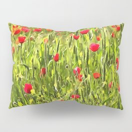 Flanders Poppies Pillow Sham