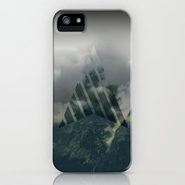 Cloudy mountains iPhone Case