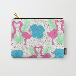 Flamingo Party Pattern Carry-All Pouch