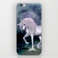 Wonderful unicorn on the beach iPhone Skin