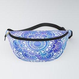 Mandala Blue Lavender Galaxy Fanny Pack