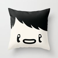 no face Throw Pillows featuring Face by OFGMS
