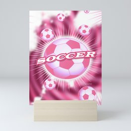 Soccer Pink Mini Art Print