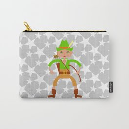 Forest hunter with bow and arrow Carry-All Pouch