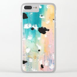 Blotchy Memories Clear iPhone Case