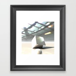 HDRI Cube Framed Art Print