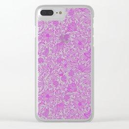 Bells Flower - BUTTERFLIES - CAMPANULA PURPLE Clear iPhone Case