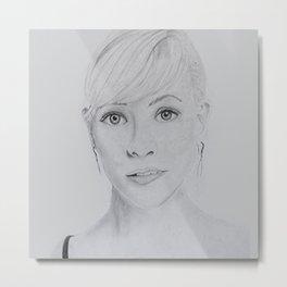 Portrait Reese Metal Print