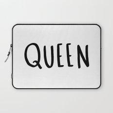Queen - typography print Laptop Sleeve