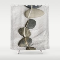 balance Shower Curtains featuring Balance by LebensART Photography