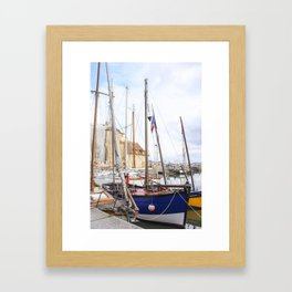 the French boats Framed Art Print
