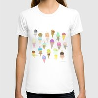 ice cream T-shirts featuring Ice cream  by maria carluccio