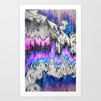 airplanes Art Prints featuring Paper Airplanes by Maria P. Sorrentino