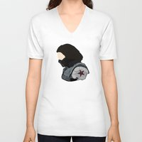 bucky barnes V-neck T-shirts featuring Bucky by Swell Dame
