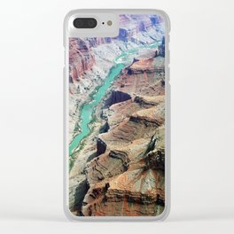 Grand Canyon Bird's eye view #4 Clear iPhone Case