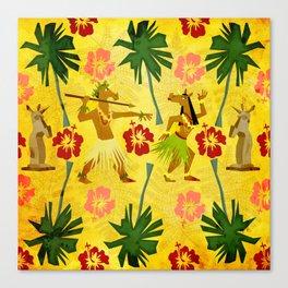 Tropical Island Unicorn Canvas Print