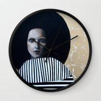 musa Wall Clocks featuring MUSA by Michela Ezekiela Riba