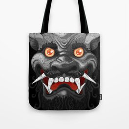 Happy Lion (Black) Tote Bag