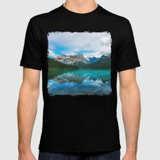 The Mountains and Blue Water Black MEDIUM Mens Fitted Tee
