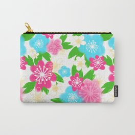 04 Pattern of Watercolor Flowers Carry-All Pouch