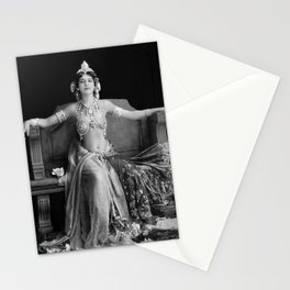 Mata Hari, Famous French Dancer and Femme fatale black and white photograph / black and white photography Stationery Cards