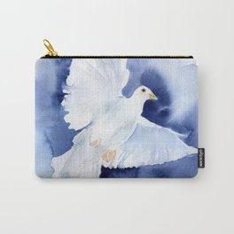 Dove Watercolor Carry-All Pouch