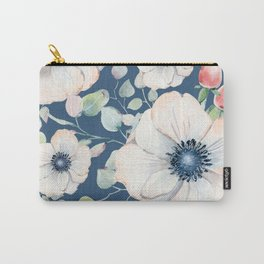 Summer Flowers Blue #society6 #buyart Carry-All Pouch