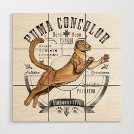 Old School Puma Facts Wood Wall Art