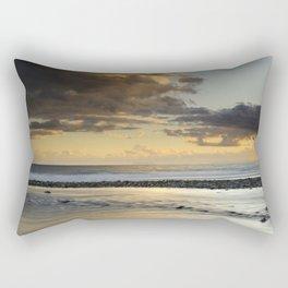 Gibraltar. Mediterranean sea at sunset. Rectangular Pillow
