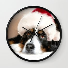 Santa Dog Wall Clock