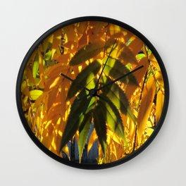 A  touch of green Wall Clock