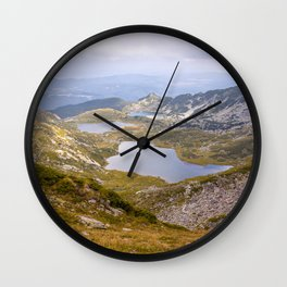 Rila lakes Wall Clock