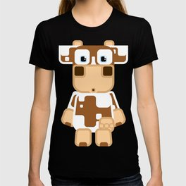 Super cute cartoon cow in brown and white - a moo-st have design for  cow enthusiasts! T-shirt