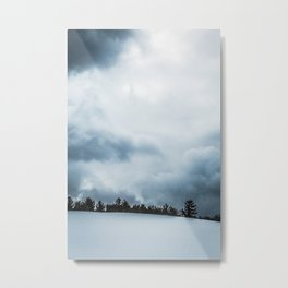 Winter Snowstorm Metal Print