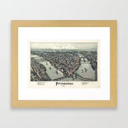 Pittsburgh Pennsylvania - Bird's Eye View - 1902 Framed Art Print
