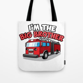 Fire Engine Truck Big Brother Fireman Present Son Tote Bag